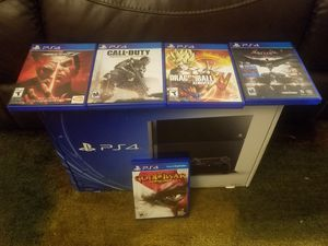 PS4 500gb +1 remote + 6 games for Sale in Orlando, FL