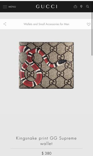 GUCCI Kingsnake Print Supreme Wallet for Sale in Midway, UT