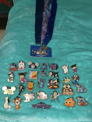 Disney Pins And Lanyard Keychain Lot 2005 for Sale in Staten Island, NY