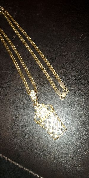 14k chain and pendant for Sale in San Antonio, TX