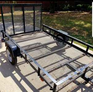 Carry-On Trailer 5-ft x 8-ft Wire Mesh Utility Trailer with Ramp Gate for Sale in Fort Worth, TX