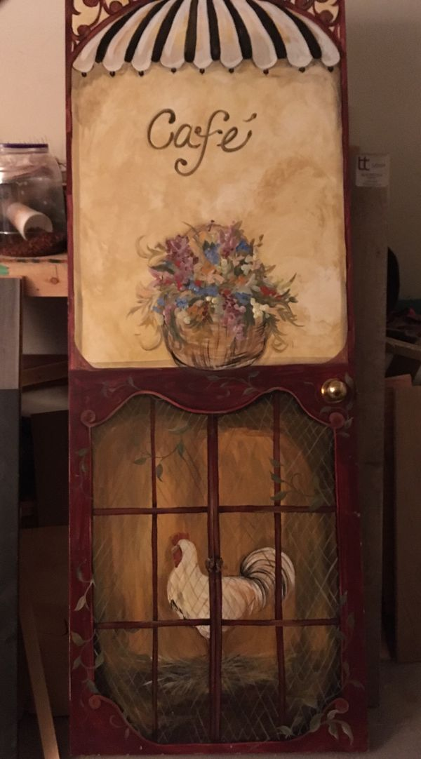 Hand painted solid wood door
