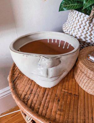 Ceramic face planter pot for Sale in Brockton, MA
