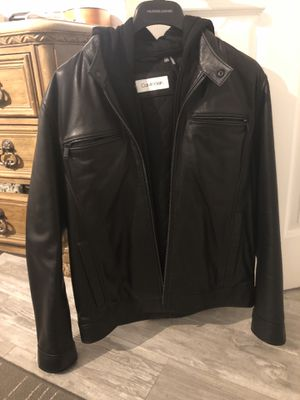 Calvin Klein lamb skin leather jacket size small for Sale in Fort Lauderdale, FL
