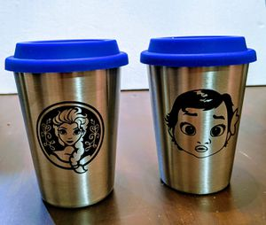 Elsa and Moana Stainless steel Cup with Name for Sale in San Bernardino, CA