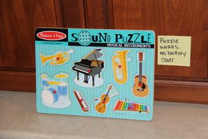 Melissa and Doug Musical Sounds Puzzle $5 for Sale in Stockton, CA