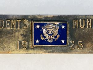 1925 President's Hundred Brassard Tab US NRA Brass Badge for Sale in New Holland, PA