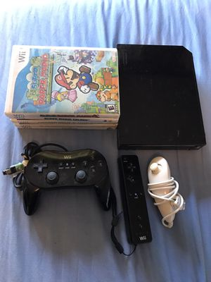 Nintendo Wii System! + 5 Games! Controller, Joystick & Control Pad! Super Paper Mario! Mario Galaxy! Zelda! for Sale in Happy Valley, OR