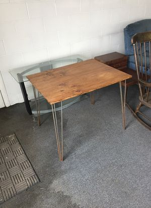 Small table with steel legs 28 x 36 inches for Sale in Dover Foxcroft, ME