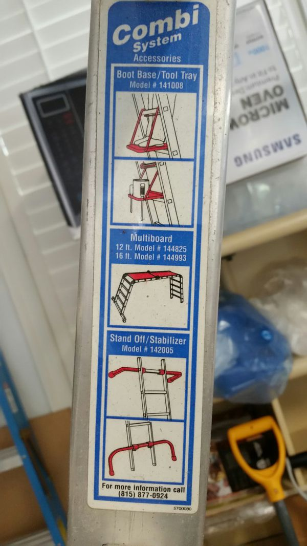 KRAUSE MULTINATIONAL 16 FOOT INDUSTRIAL LADDER/SCAFFOLD