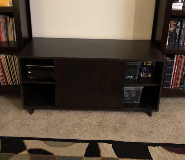 TV stand, espresso finish