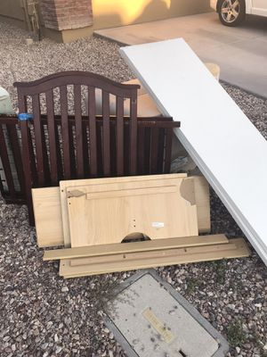 Free - Crib, Closet Door and Train Table for Sale in Buckeye, AZ