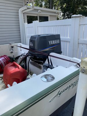 """1972 aqua sport 17""""8 what a 2000 horse Yamaha engine for Sale in Charlotte, NC"""