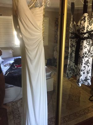 White Greek dress w/ gold chain (Medium 6-8) for Sale in City of Industry, CA