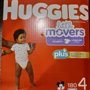 Pamper Huggies Size 4 Count 180 New for Sale in North Arlington, NJ