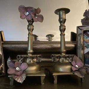 Brass Candelabra/ Flower vase for Sale in Palo Alto, CA
