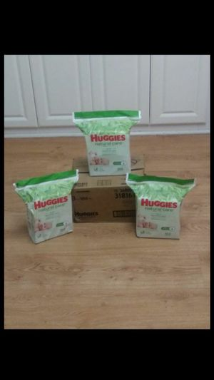 Brand new case of Huggies Natural Care Baby Wipes For Sensitive Skin for Sale in New Port Richey, FL