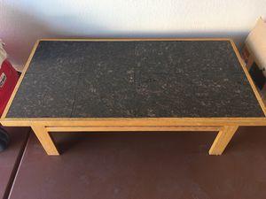 Coffee tea black tile wood table for Sale in Glendale, AZ