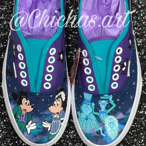 Hand Painted Shoes Or Vans! Disney, Lilo And Stitch, Vegeta Dragon Ball Z, Nightmare Before Christmas, Princesses Ariel, Pocahontas! Christmas! for Sale in Riverside, CA