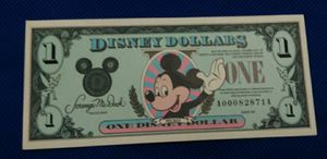 USA America Disney Disneyland Dollar banknote currency bill for Sale in Glendale, CA