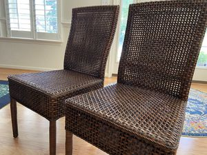 Crate & Barrel rattan dining chairs (4) for Sale in Virginia Beach, VA