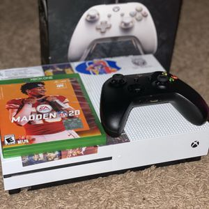 Xbox One S/ W 2 Controllers, a Fusion Wired Controller, And Madden 20 for Sale in Philadelphia, PA