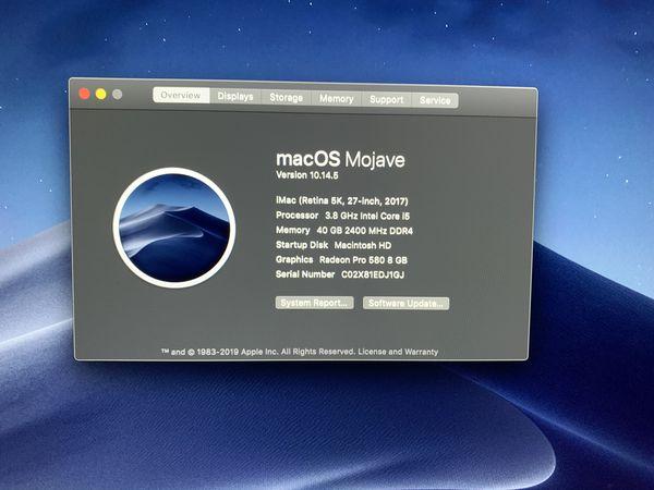 iMac 27 -inch Retina 5K 2017 Barely Used