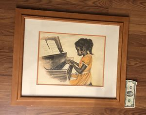 Framed art - Little Girl on Piano for Sale in Silver Spring, MD