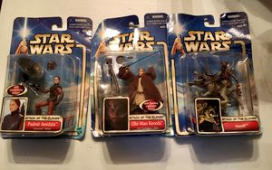 STAR WARS POSABLE ACTION FIGURES. VINTAGE HASBRO 2002. QTY #3 , IN BOX for Sale in Lodi, CA