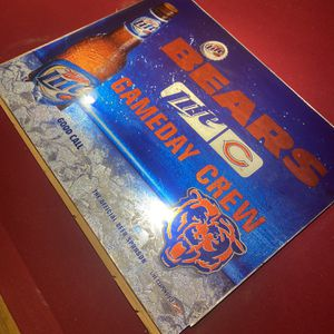 Bears Miller Light Glass Sign for Sale in Wadsworth, IL