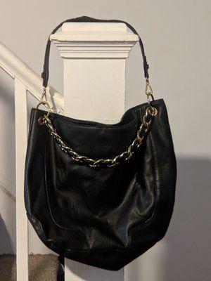 Faux Leather Hobo Bag with Chain Detail & Detachable Strap for Sale in Burlington, NJ