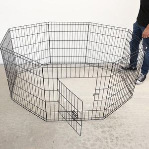 """(NEW) $30 Foldable 24"""" Tall x 24"""" Wide x 8-Panel Pet Playpen Dog Crate Metal Fence Exercise Cage for Sale in El Monte, CA"""