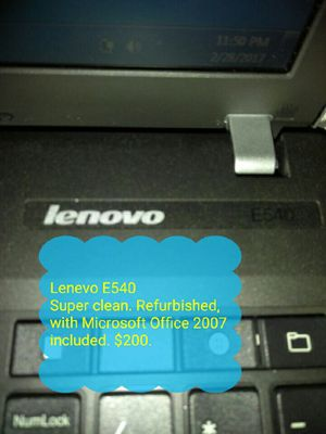 Lenevo E540 Laptop for Sale in Temple Hills, MD