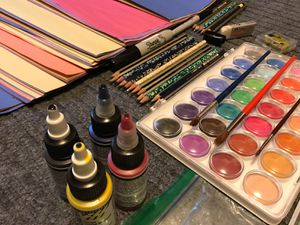 Art supplies & drawing supplies. seldom used. Paid $150 , sell only for $90 for Sale in Boston, MA