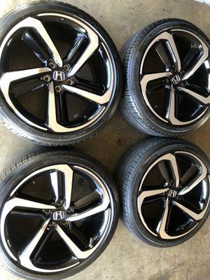 Rims tires 19x8,5 5x114.3 fit Honda Accord sport civic perfect condition Michelin tires 95% for Sale in Santa Ana, CA
