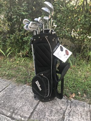 Golf clubs and cart bag $67 for Sale in Orlando, FL