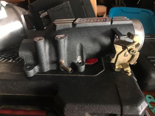 After marker MAF sensor and BBK 73 mm throttle body