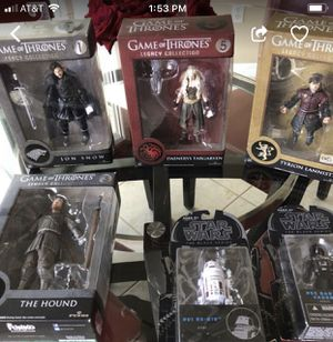 Game Of Thrones, Star Wars Action Figures. New in unopened boxes. for Sale in Venice, FL