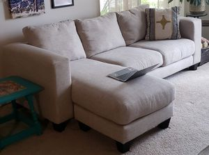 """Cohn 84"""" Reversible Sectional with Ottoman for Sale in Issaquah, WA"""