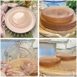 20 Vintage Pink Swirl French Glass Plates for Sale in Newport Beach, CA