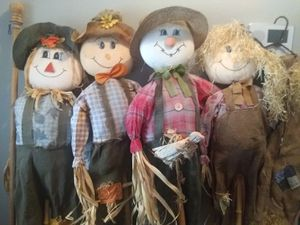 Four Fall Scarecrows for Sale in Glendale, AZ