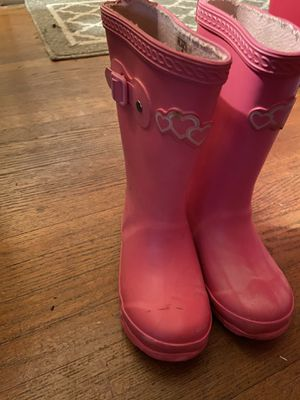 Girls Rain Boots Size 9 for Sale in Charlotte, NC
