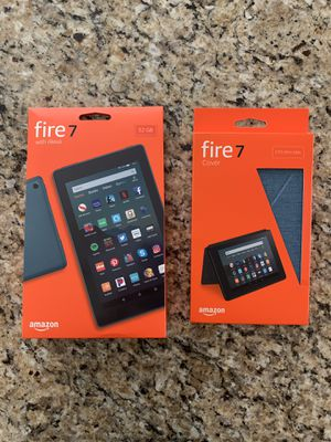 Brand New Amazon Fire 7 Tablet + Case for Sale in Elmhurst, IL