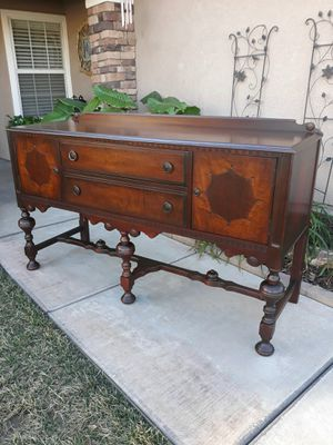 "ANTIQUE ""TOMLINSON FURN CO."" SIDEBOARD / BUFFET / ENTRYWAY PIECE / TV STAND (CIRCA 30'S/40'S) 66""W × 22""D × 39""H for Sale in Corona, CA"