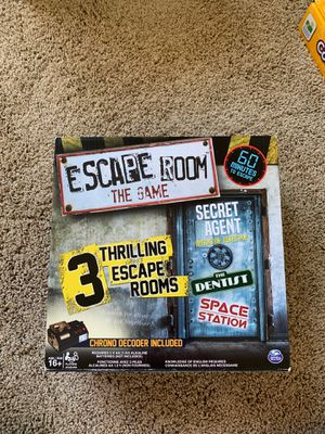 Escape room board game for Sale in Beaverton, OR