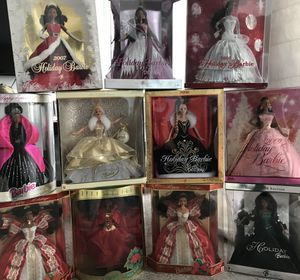 Holiday Barbie Collection of 11 stunning dolls! for Sale in Chicago, IL