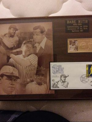Babe Ruth 100th birthday plaque for Sale for sale  Riverside, CA