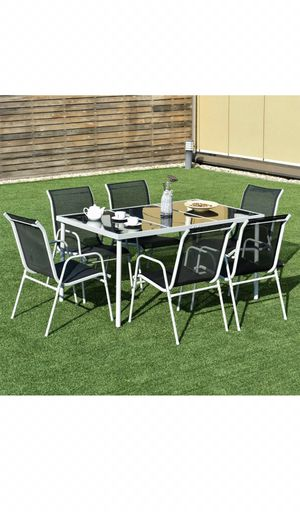 Outdoor furniture, patio furniture, outdoor patio furniture, table set, 7pc table set, 400$ retail! for Sale in Maricopa, AZ