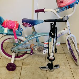 Kids Princess Bike - With new Floor Pump, Helmet and Protective Gears for Sale in Sharon, MA
