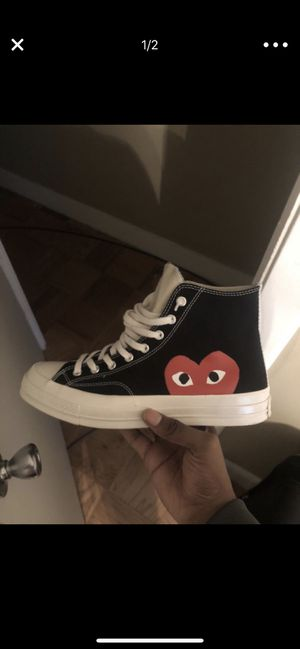 Cdg converse worn once sz 10 for Sale in Portland, OR